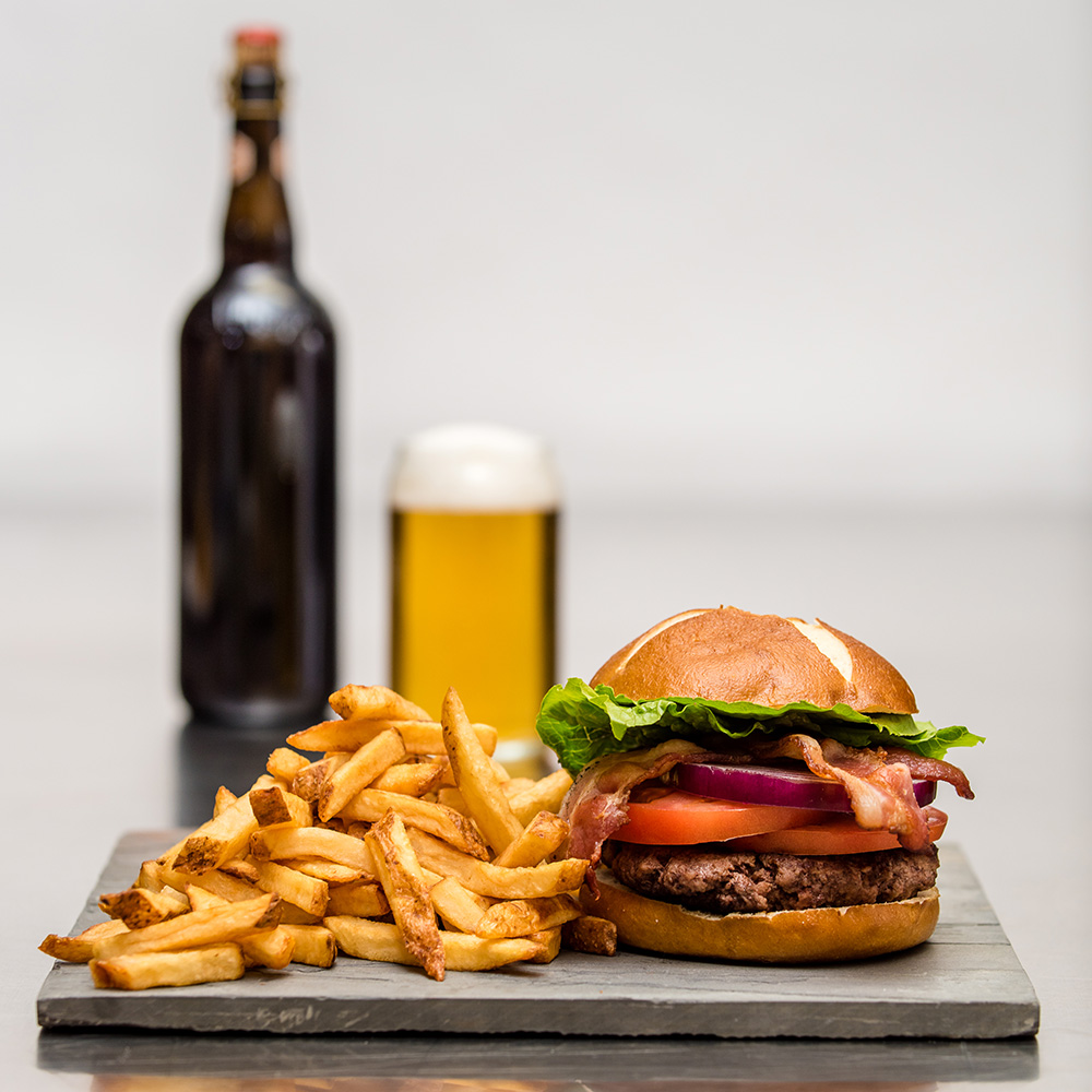 Main St Local Kitchen burger and fries
