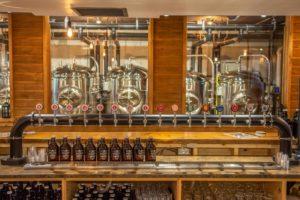 Huntsville Brewhouse showing beer vats