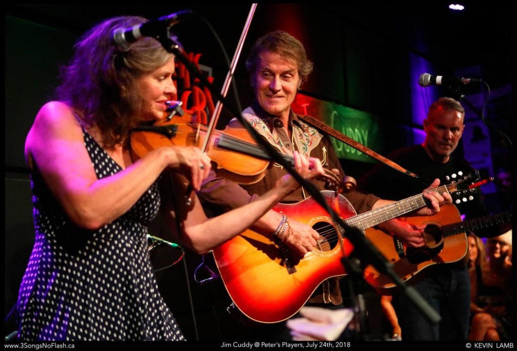 Peters Players Muskoka venue with fiddler and guitarist Jim Cuddy on stage
