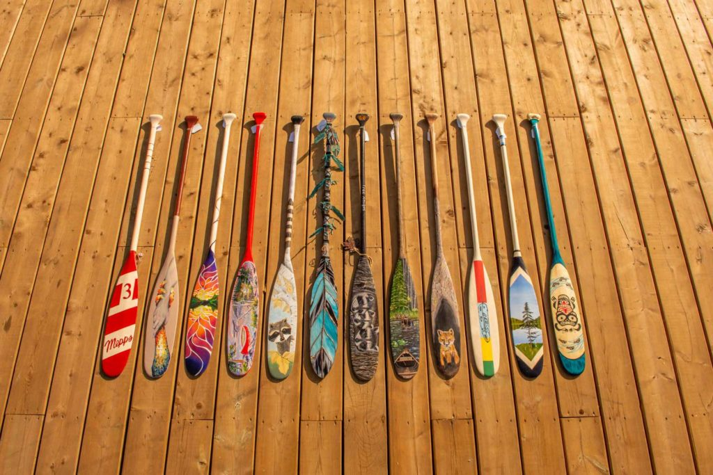Algonquin Outfitters Charity Paddle Art Auction a Huge Success