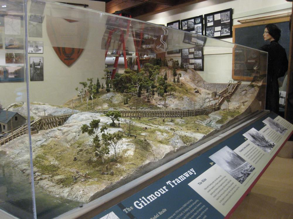 A model exhibit on display at the Dorset Heritage Museum