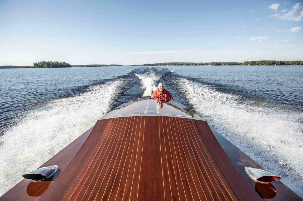Miss Supertest III racing across Muskoka Lakes