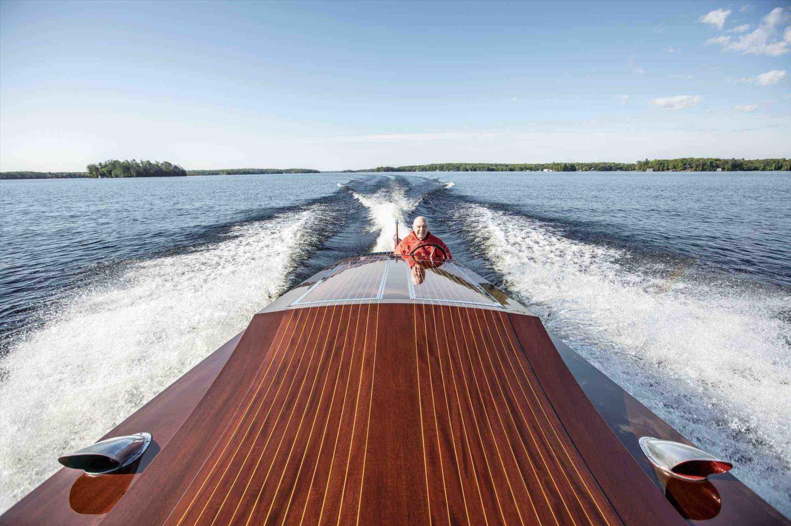 Miss Supertest III racing across Muskoka Lakes