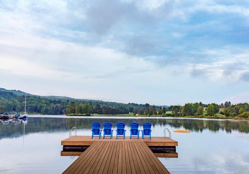 Deerhurst Resort view from the dock on Peninsula Lake