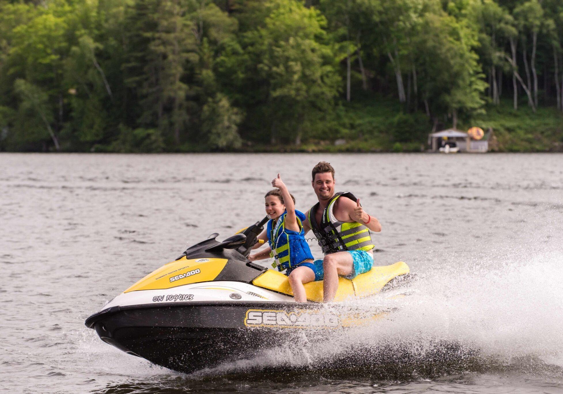 Deerhurst Resort water fun on a jet ski